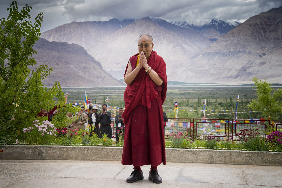 His Holiness the Dalai Lama in Ladakh, J&K, India. (Photo courtesy: OHHDL)