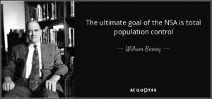NSA ultimate goal total population control william bunny quote