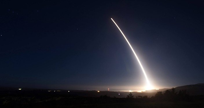 In this photo provided by U.S. Air Force, an unarmed Minuteman III intercontinental ballistic missile launches during an operational test on Saturday, Feb. 20, 2016 at Vandenberg Air Force Base, California.