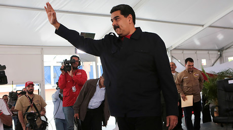 Venezuela's President Nicolas Maduro gestures during a meeting with supporters in Caracas, Venezuela July 26, 2017. © Miraflores Palace