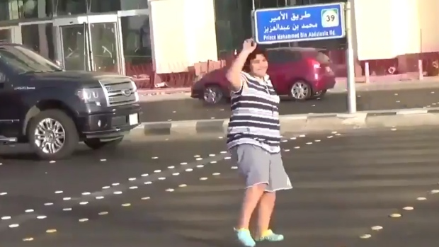 Police in Saudi Arabia arrested a 14-year-old boy who was filmed dancing to the '90s hit Los Del Rio song Macarena at an intersection in the Red Sea city of Jeddah.