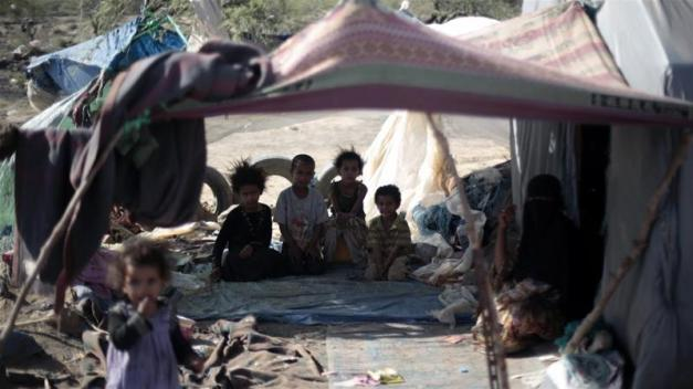 War in Yemen has killed at least 10,000 people and left more than three million displaced [Hani Mohammed/AP]