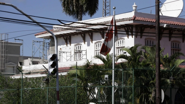 The Canadian Embassy is seen in Havana. Canadian diplomats and their families were targeted in their homes by apparent 'sonic attacks' in the Cuban capital.