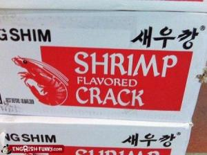 crack flavored shrimp