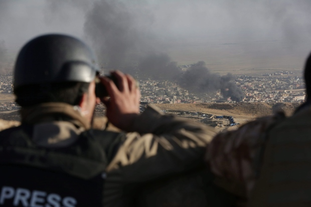 Mideast Iraq Islamic State Sinjar freed from ISIS Nov 12 airstrikes