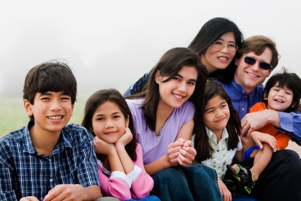 179956763 stock image family five kids