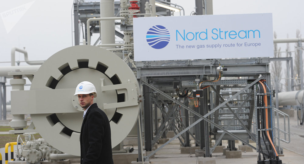 Prior to the grand opening ceremony of the Nord Stream gas pipeline in the German town of Lubmin.