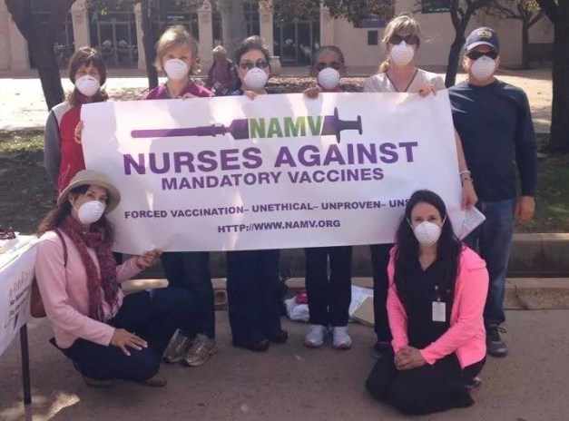 Nurses and Healthcare Workers Across the U.S. Are Refusing Mandatory Flu Vaccines Nurses-with-masks-against-flu-vaccines