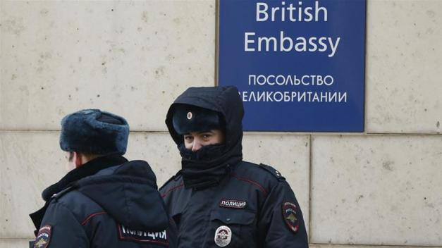 Russia decided the 23 British diplomats must leave Moscow within a week [David Mdzinarishvili/Reuters]