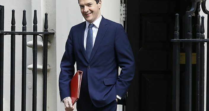 Britain's then Chancellor of the Exchequer George Osborne leaves 11 Downing Street, in London for prime minister's questions, Wednesday, July 13, 2016.