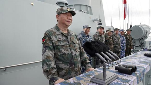 China's navy announced on Thursday it will be holding a live-fire drill in the Taiwan Strait on Wednesday [Li Gang/Xinhua]