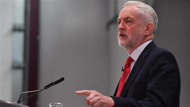Opposition Labour party leader Jeremy Corbyn gives a speech on Brexit at Coventry University in Coventry on February 26, 2018. (Photo by AFP)