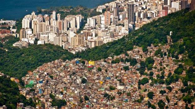 Inequality, evident here in Rio de Janeiro, Brazil. (Photo by Shutterstock)