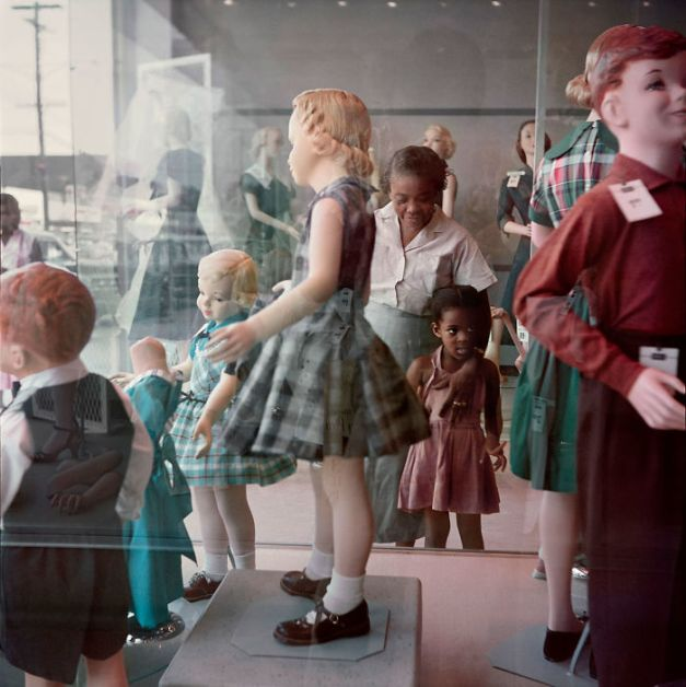 Girl And Her Grandmother Window-Shopping In Mobile, Alabama, 1956