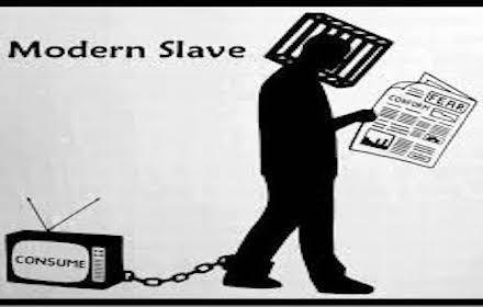 Media propaganda slaves