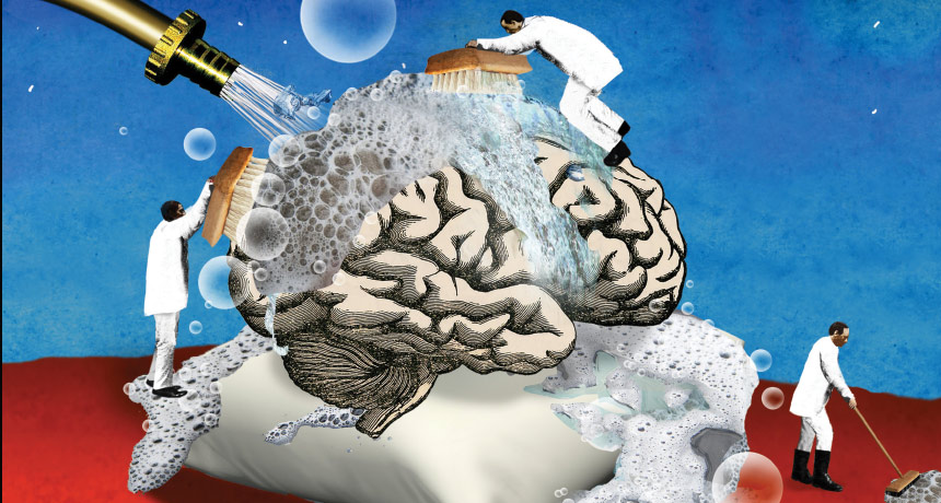 brain cleaning illustration