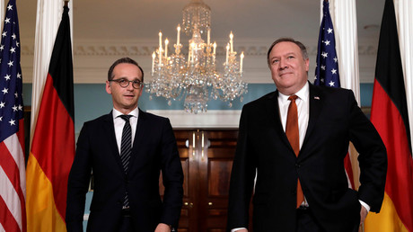US Secretary of State Mike Pompeo (R) and German Foreign Minister Heiko Maas © Yuri Gripas