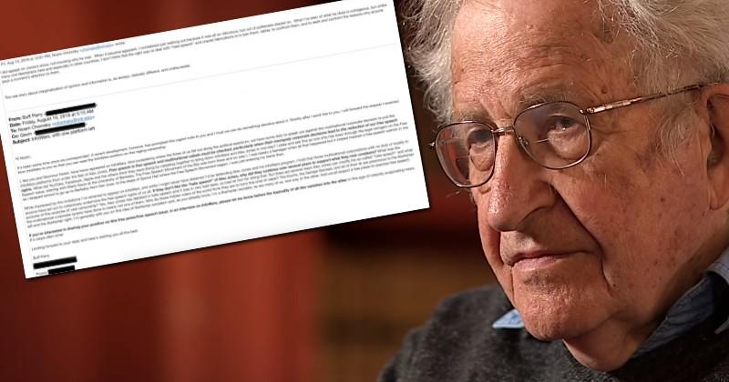 Free Speech Icon Noam Chomsky Says Big Tech Was Wrong to Ban Infowars