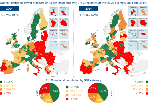 Purchasing Power in Greece in 2004 and 2014