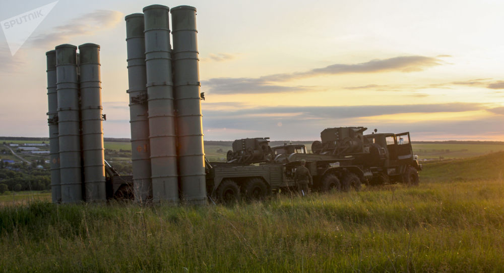 S-300 Favorite surface-to-air missile systems during a bilateral drill of air defense and aviation forces of the Western Military District