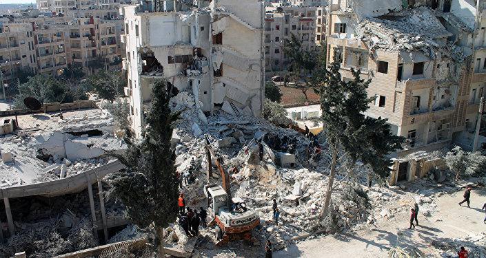 Syrian northwestern city of Idlib.