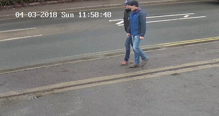 Alexander Petrov and Ruslan Boshirov, who were formally accused of attempting to murder former Russian spy Sergei Skripal and his daughter Yulia in Salisbury, are seen on CCTV on Wilton Road in Salisbury on March 4, 2018 in an image handed out by the Metropolitan Police in London, Britain September 5, 2018