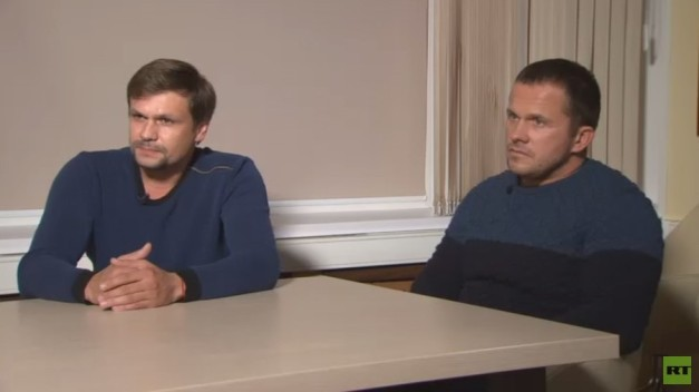 RT editor-in-chief's exclusive interview with Skripal case suspects Petrov & Boshirov (TRANSCRIPT)
