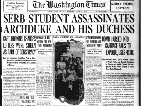 Image result for assassination of Archduke Ferdinand