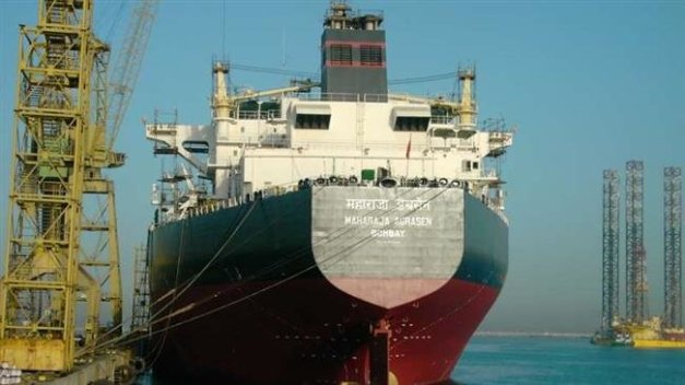 This file photo shows an Indian oil tanker.