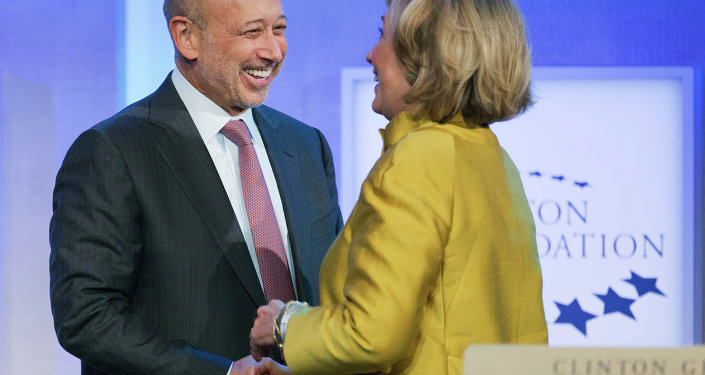 Hillary Clinton and Goldman Sachs CEO Lloyd Blankfein