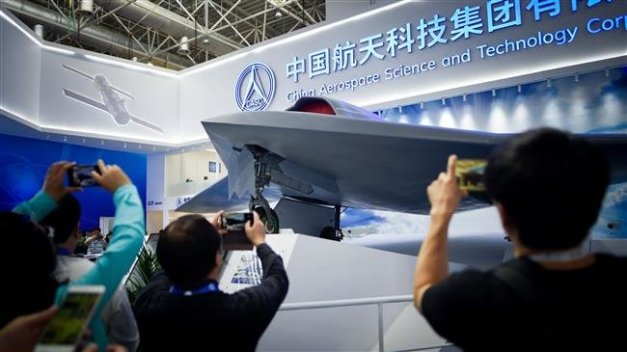 China's new-generation stealth unmanned combat aircraft prototype, the CH-7, is displayed at the Airshow China 2018 in Zhuhai, south China south China's Guangdong province, November 6, 2018. (Photo by AFP)