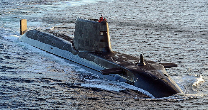 Astute class submarine HMS Ambush is pictured during sea trials near Scotland. File photo