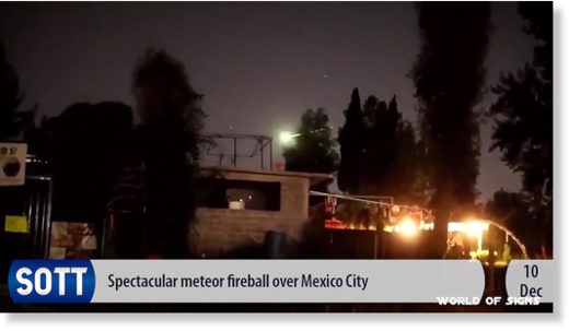 meteor Mexico city December 2018