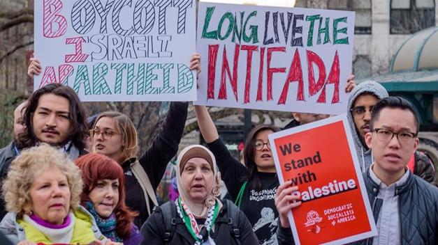 The bill drew controversy because of added language authorising state and local governments to end contracts with those backing the pro-Palestinian BDS movement [File: Erik McGregor/Pacific Press/LightRocket/Getty Images]