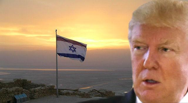 trump-israel flag-186476 640