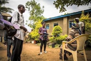 Community Ebola representatives in DR Congo