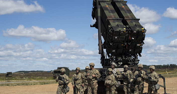 Members of US 10th Army Air and Missile Defense Command stands next to a Patriot surface-to-air missile battery during the NATO multinational ground based air defence units exercise Tobruq Legacy 2017 at the Siauliai airbase. (File)