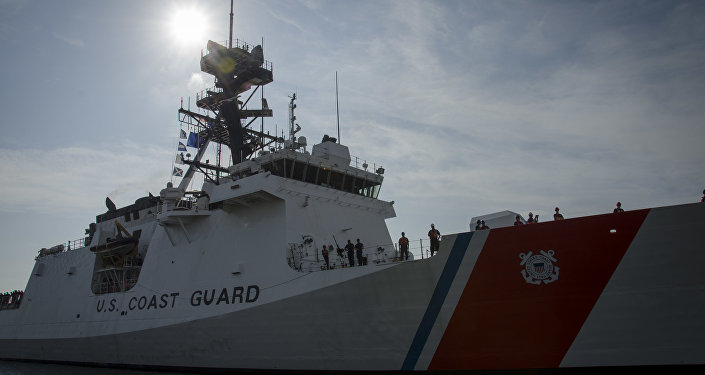 The United States Coast Guard Cutter James, the second National Security Cutter for the East Coast, arrived Aug. 28, 2015 in its homeport in Charleston, S.C.