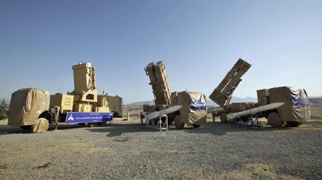 The Khordad 15 surface-to-air missile system uses locally made missiles [Iranian Defense Ministry via AP]