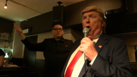 WATCH Trump & Kim's look-alikes sing duet as they rock a pub during G20