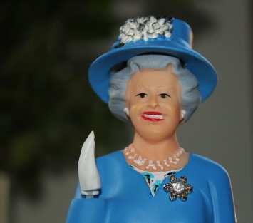 Queen, Figure, Wave, England, Blue, Elizabeth