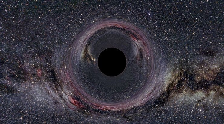 Black Hole Center Galaxy