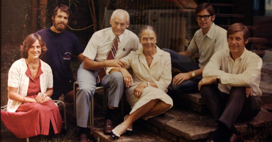 A photograph of Wal-Mart founder Sam Walton and his family is displayed at the Wal-Mart museum, March 17, 2005 in Bentonville, Arkansas. Today Wal-Mart operates many thousands of stores both in the U.S. and abroad. The fiercely anti-union and media-shy company is a target of critics and the Walton family is now the wealthiest on the planet. (Photos by Gilles Mingasson/Getty Images)