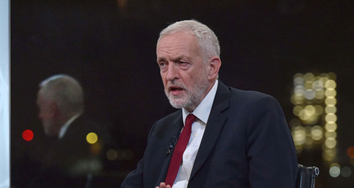 Britain's opposition Labour Party leader Jeremy Corbyn appears on BBC TV's The Andrew Neil Interviews in London, Britain, November 26, 2019