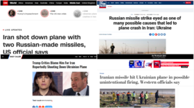 Secret intelligence & 'highly likelys': How media created narrative around Tehran jet crash to blame Iran, Russia and Trump